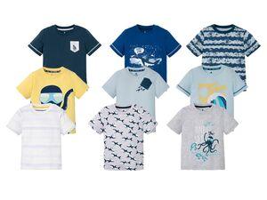 LUPILU® T-Shirt Jungen, 3 Stück, aus reiner Baumwolle