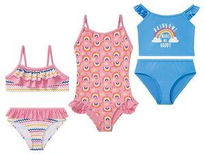 LUPILU® Kleinkinder Bademode Mädchen, Bikini oder Badeanzug, mit Elasthan