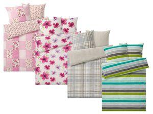 MERADISO® Seersucker Bettwäsche, 200 x 220 cm, mit Reißverschluss, aus reiner Baumwolle