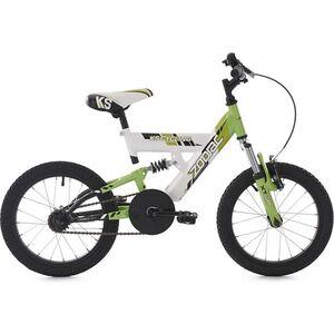 KS Cycling Kinderfahrrad 16'' Zodiac grün-weiß RH 30 cm