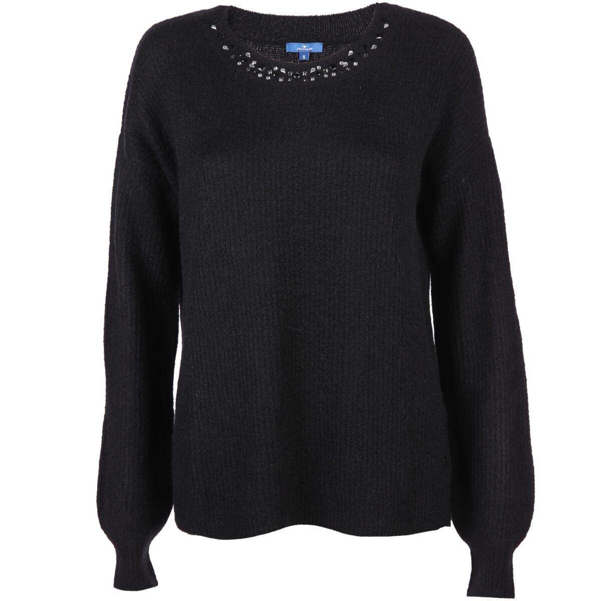Bild 1 von Damen Pullover mit Glitzersteinchen