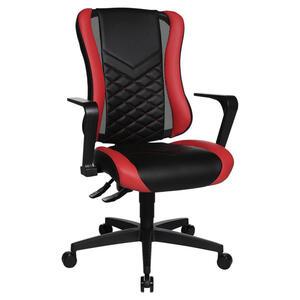 GAMINGSTUHL Rot, Schwarz Kunststoff, Textil