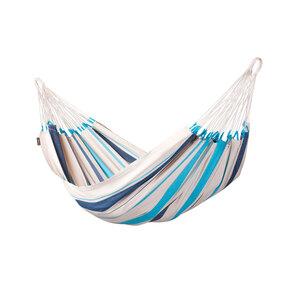"""Einzel-Hängematte """"Caribeña"""", Baumwolle, Aqua Blue"""