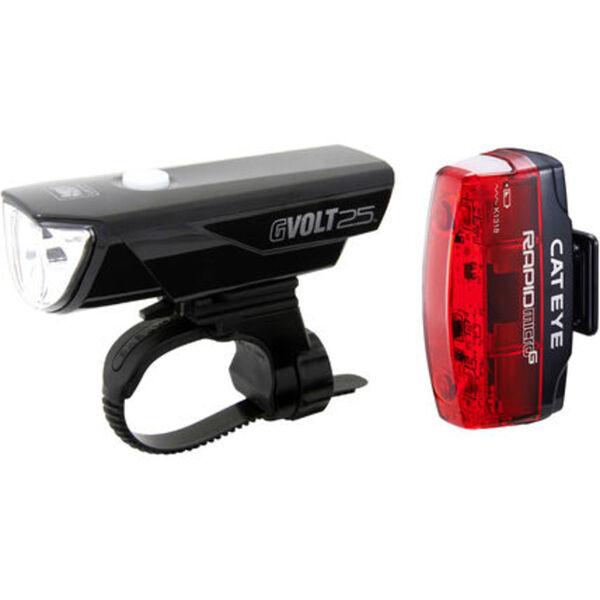 Cat Eye Fahrrad-Beleuchtungsset GVOLT25/Rapid Micro G