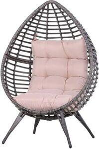Outsunny Gartensessel mit Sitzkissen