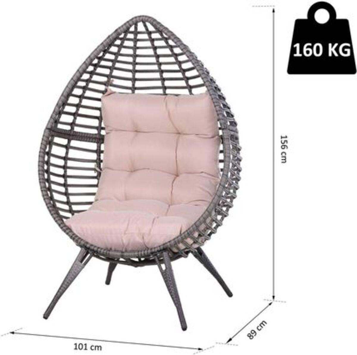 Bild 3 von Outsunny Gartensessel mit Sitzkissen