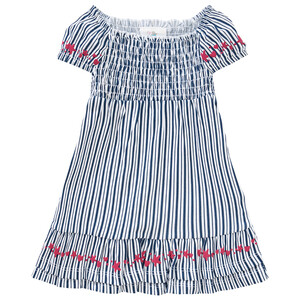 Baby Kleid im gestreiften Dessin