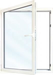 Meeth Fenster, weiß, 1100 x 1200 mm, DIN links System 70/3S Euronorm, 1-flg Dreh-Kipp