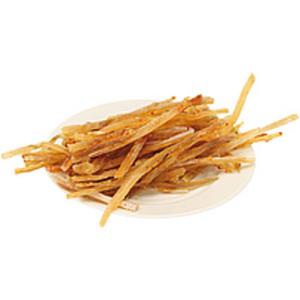 Snack aus pazifischem Kabelajau (Gadus macrocephalus) Streif...