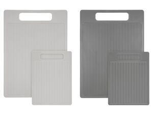 ERNESTO® Schneidebrett-Set, 2-teilig, mit Griffen, spülmaschinengeeignet, BPA-frei