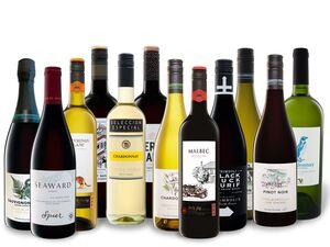 12 x 0,75-l-Flasche Weinpaket große Übersee-Vielfalt