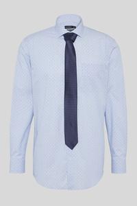C&A Businesshemd und Krawatte-Regular Fit-Cutaway-gepunktet, Weiß, Größe: 3XL