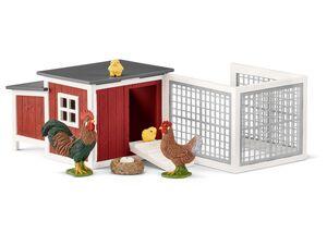 Schleich Farm World 42421 »Hühnerstall«, mit Zubehör, viele Spielfunktionen, ab 3 Jahren