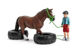 Schleich Farm World 42482 »Pony Agility Rennen«, viele Spielfunktionen, ab 3 Jahren