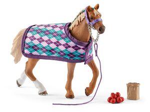 Schleich Horse Club 42360 »Englisches Vollblut mit Decke«, mit Zubehör, ab 5 Jahren