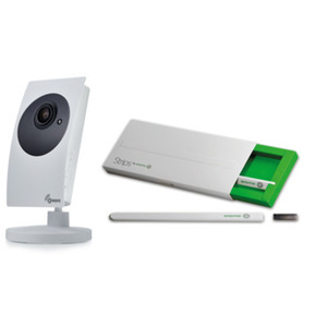 Smart Home Bundle aus POPP - Smart Camera mit Z-Wave Gateway + 2x Sensative Strips magnetischer Tür-/ Fenstersensor (Z-Wave Plus, b
