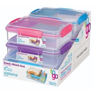 Sistema - Brotdose: Snack Attack, 975 ml, sortiert