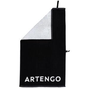 Handtuch Tennis TS 100 schwarz/weiß