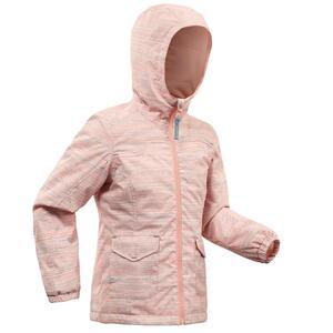Winterjacke Winterwandern SH100 warm wasserdicht Kinder 2–6 Jahre rosa