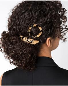 Hallhuber Haarspangen-Set in Horn-Optik für Damen Gr. One Size in multicolor