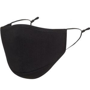 Mund- Nasen-Maske, textil, vorgeformt, Filterfach, längenverstellbarer Gummizug, waschbar