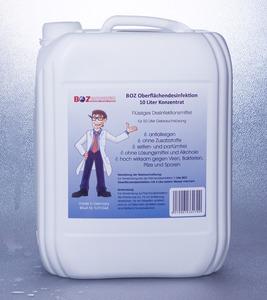Desinfektion, 10 Liter Desinfektionsmittel, BOZ Oberflächendesinfektion Konzentrat, für 50 Liter Gebrauchslösung