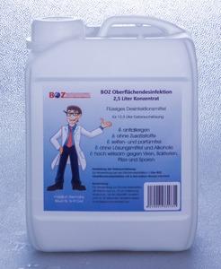 Desinfektion 2,5 Liter Desinfektionsmittel, BOZ Oberflächendesinfektion Konzentrat, für 12,5 Liter Gebrauchslösung