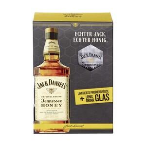 Gentleman Jack Tennessee Whiskey Geschenkpackung oder Honey inkl. limitiertes Whiskeyglas 40/35 % Vol., jede 0,2-l-Flasche