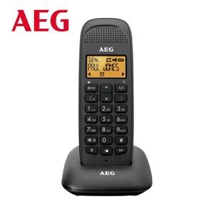 Schnurlos-DECT-Telefon VOXTEL D81 • beleuchtetes Display • Freisprechfunktion • Telefonbuch für bis zu 50 Einträge • Eco-Modus, Standard-Akkus  Logo AEG