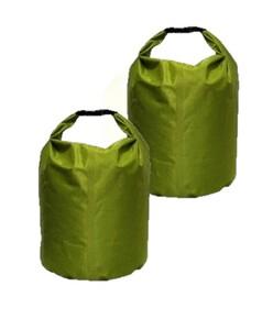 Solax-Sunshine Wasserdichter Transportbeutel, 2er-Set - Grün