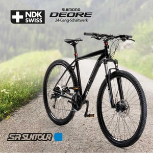Alu-Mountainbike Swiss Life NDK 27,5er oder 29er - Shimano Daumenschalthebel - Rahmenhöhe: 52 cm - Preis für vormontierte Räder