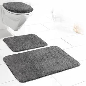 Sensino Badezimmer-Garnitur für Hänge-WC, 3-tlg. - Anthrazit