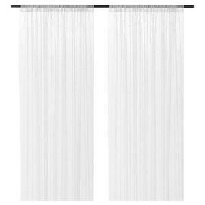 LILLEGERD Gardinenstore/Paar, weiß Blatt145x300 cm