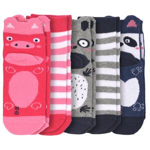 5 Paar Mädchen Sneaker-Socken mit Tier-Motiv