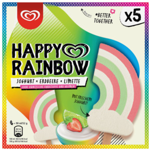 Happy Rainbow Joghurt Erdbeere Limette 5x90ml
