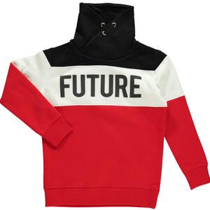 Kinder Sweatshirt mit Print und Loopkragen