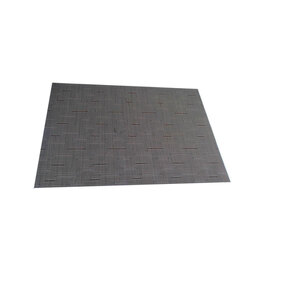 Platzdecke, 45x32 cm, mittelbraun mit Streifen