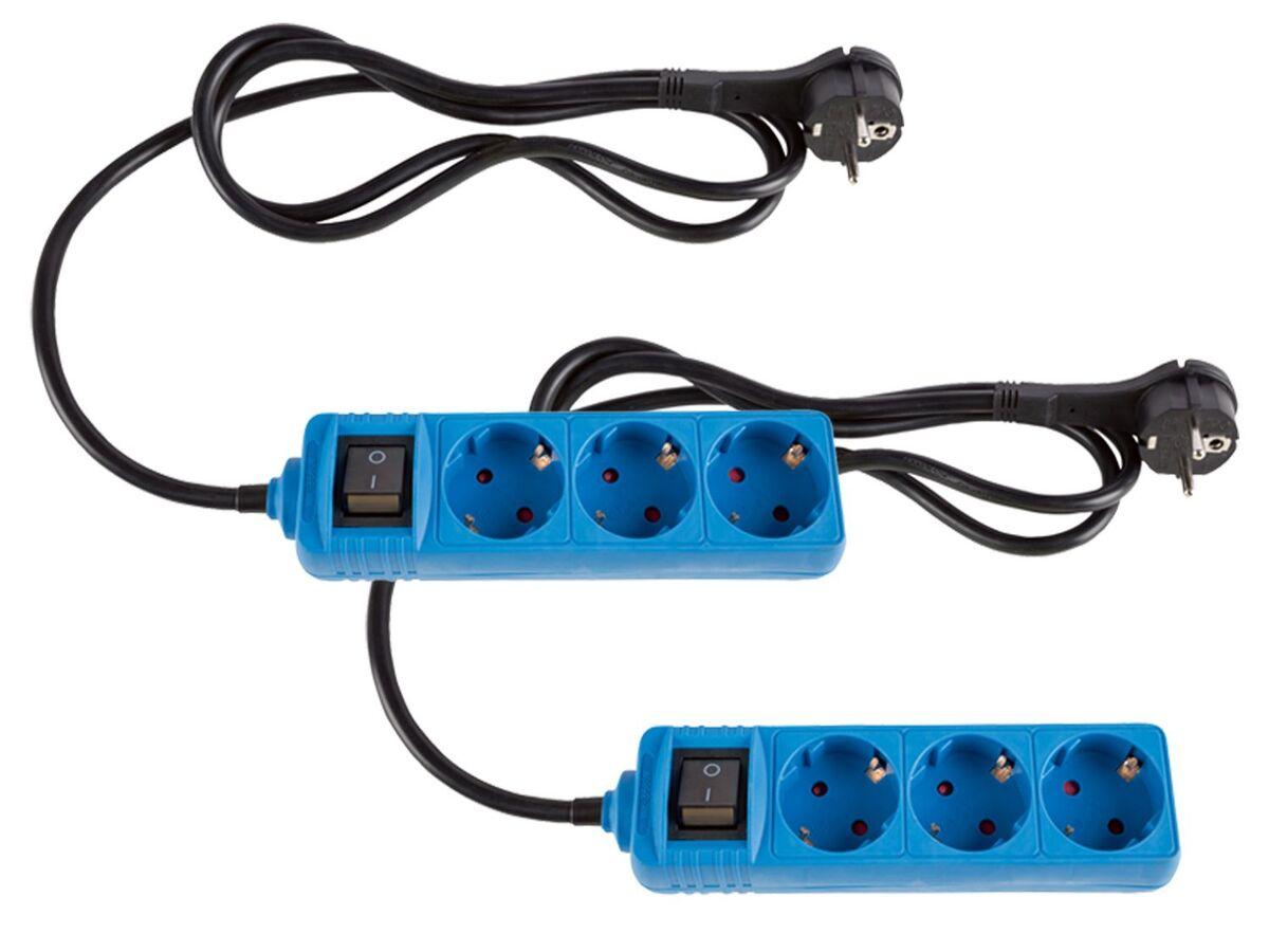 Bild 2 von SILVERCREST® Steckdosenleiste, 2 Stück, Flachstecker, Kinderschutz, beleuchteter Schalter