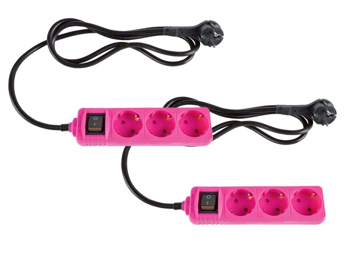 Bild 4 von SILVERCREST® Steckdosenleiste, 2 Stück, Flachstecker, Kinderschutz, beleuchteter Schalter