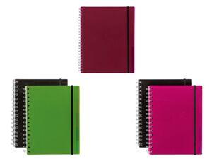 UNITED OFFICE® Spiralbücher, mit Register, DIN A4 oder A5, 100 Baltt pro Block, kariert