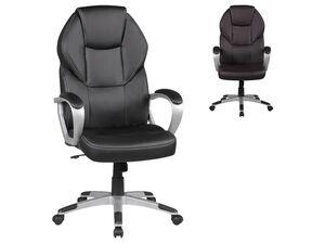 AMSTYLE Bürostuhl »Detroit«, ergonomische Rückenlehne, üppige Polsterung, Kontrastnähte
