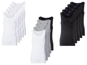 LIVERGY® Achselhemden Herren, 5 Stück, aus reiner Bio-Baumwolle