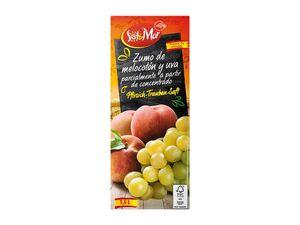 Pfirsich-Trauben-Saft