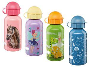 ERNESTO® Kinder Trinkflasche, 400 ml Fassungsvermögen, mit auslaufsicherem Drehverschluss