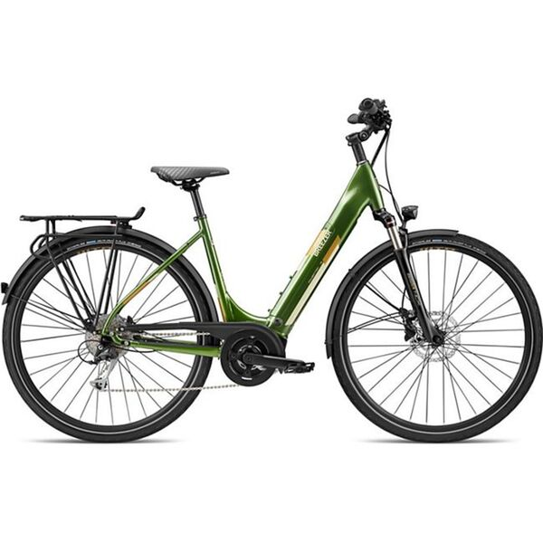 Breezer Powertrip Evo 1.5+ LS 700c E-Bike Damenrad 28 Zoll Pedelec Damen Senioren Elektrofahrrad... 45 cm, grün/messing