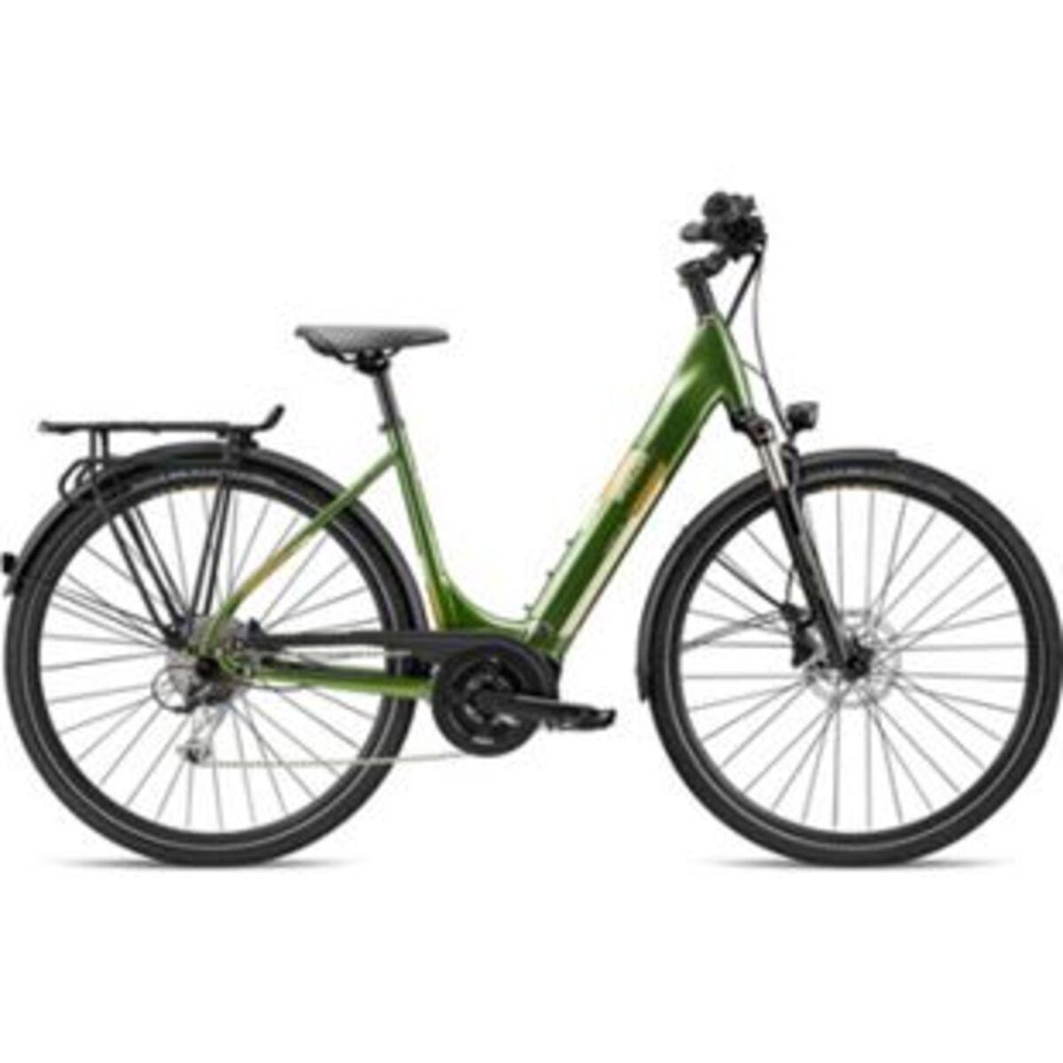 Bild 2 von Breezer Powertrip Evo 1.5+ LS 700c E-Bike Damenrad 28 Zoll Pedelec Damen Senioren Elektrofahrrad... 45 cm, grün/messing