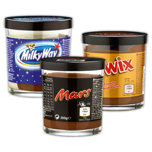 Milky Way / Mars / Twix Brotaufstrich