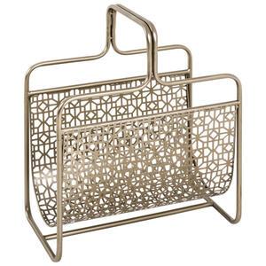 ZEITUNGSSTÄNDER Metall Bronzefarben