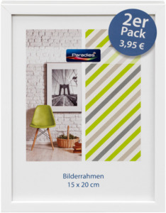 Paradies Bilderrahmen Kunststoff 15x20cm, weiß,  2er-Pack