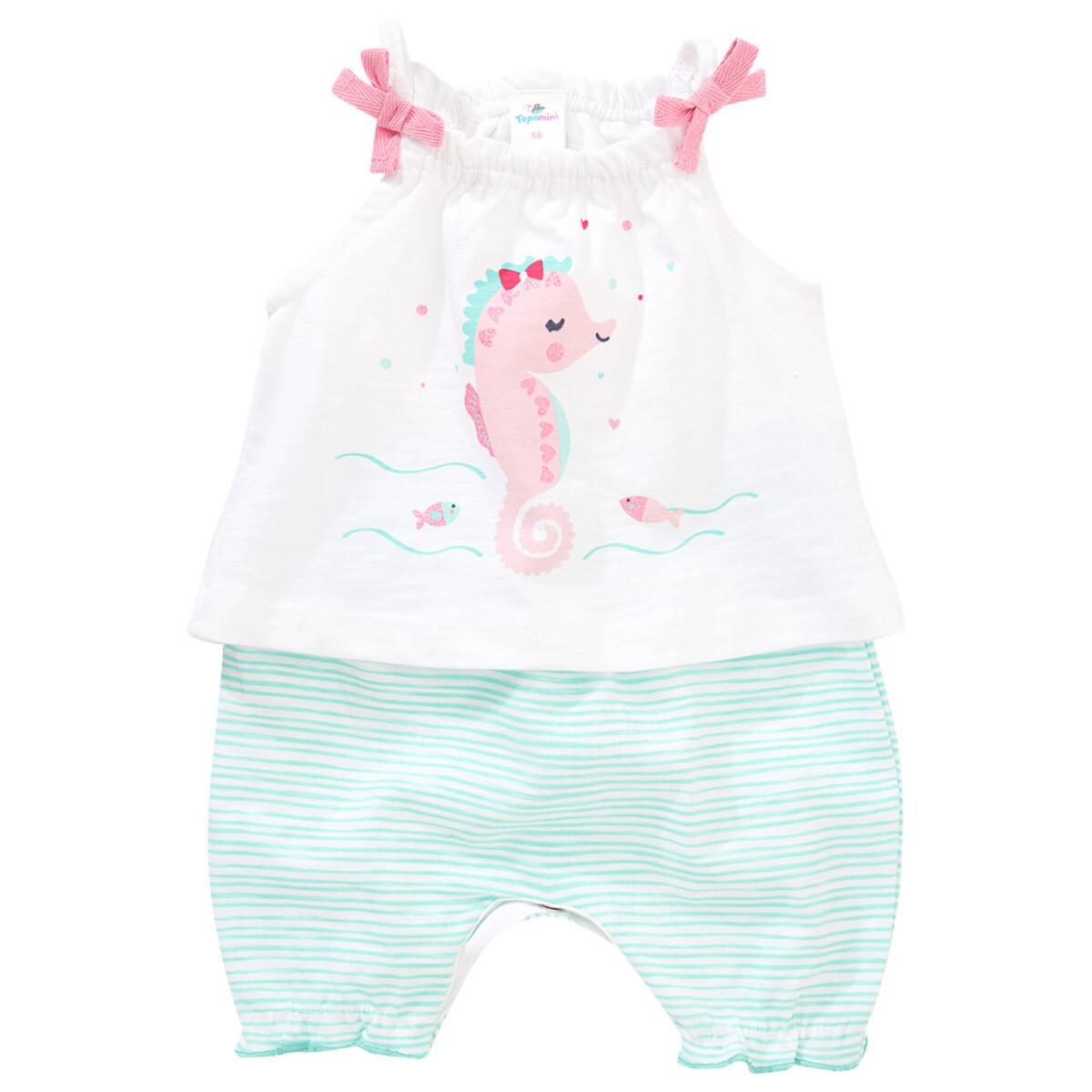 Bild 1 von Baby Strampler mit Seepferdchen-Print